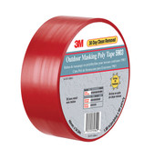 Image of 3M Outdoor Masking Poly Tape Red 5903, 2 per Roll