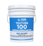 Img of AVM Texture 100 Silver per Gal in 2 Gal Unit - #802 Silver